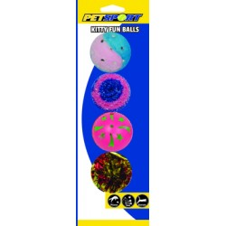 PetSport Kitty Fun Balls 4 Pack