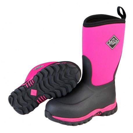 Kids Rugged II Muckboot- Pink & Black